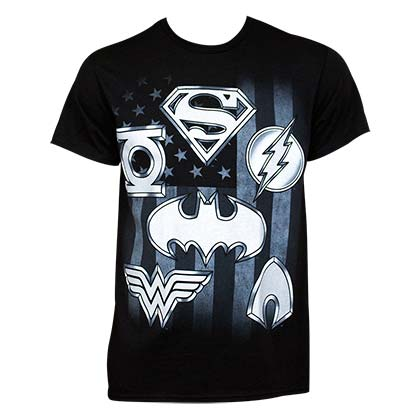 JUSTICE LEAGUE Superhero Logo Tee Shirt