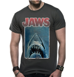 Jaws - Vintage Poster - Unisex T-shirt Grey