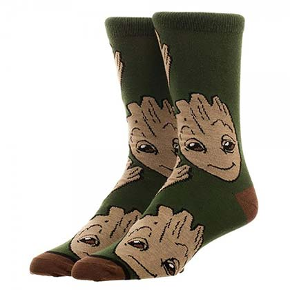 GUARDIANS OF THE GALAXY Groot Crew Socks