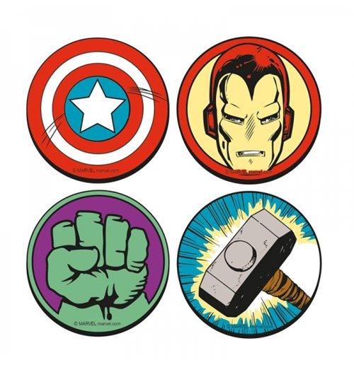 official marvel superheroes coaster set logos buy