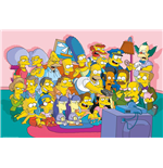 The Simpsons Poster - Sofa Cast - 61 x 91,5 cm