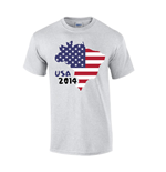 Usa 2014 Country Flag T-shirt (grey)