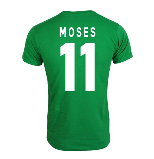 2013 Nigeria CAF Winners T-Shirt (Green) - Moses 11