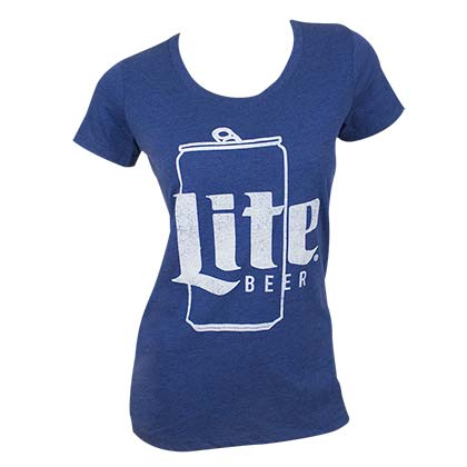 MILLER Lite Ladies Can Logo Tee Shirt