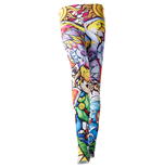 NINTENDO Legend of Zelda Windwaker HD Women's All-over Link Print Leggings, Small, Multi-colour