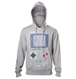 NINTENDO Men's Gameboy Handheld Console Print Hoodie, Small, Grey