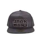 STAR WARS A New Hope Main Logo Snapback Baseball Cap with Space Battle Brim, One Size, Black