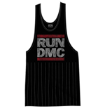 Run DMC Ladies Tee Vest: Logo Vintage with Tassels