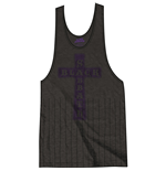 Black Sabbath Ladies Tee Vest: Vintage Cross with Tassels