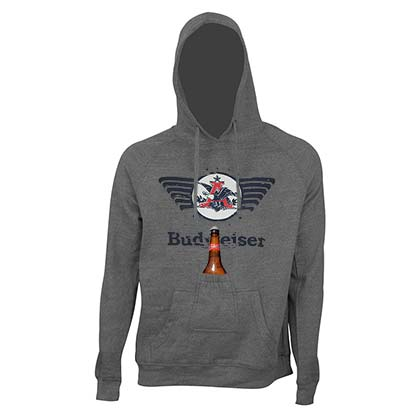 BUDWEISER Eagle Logo Beer Pouch Hoodie