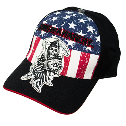 SONS OF ANARCHY Flex Fit American Flag Hat