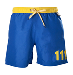 FALLOUT 4 Men's Vault 111 Swimming Shorts, Medium, Blue/Yellow