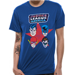 Justice League - 4 Faces - Unisex T-shirt Blue