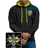 Harry Potter - House Hufflepuff - Unisex Varsity Hoodie Black