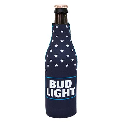 BUD LIGHT Patriotic Zipper Bottle Cooler