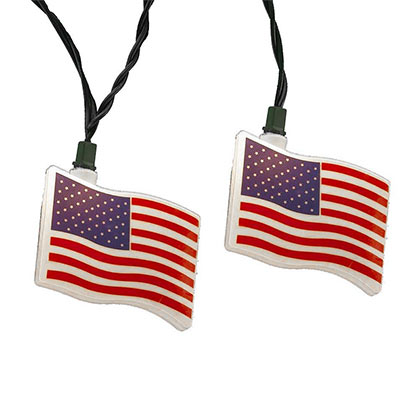 USA PATRIOTIC Flag Light String Set