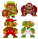 World of Nintendo Vinyl Figures 5-Pack 6 cm Retro 8-Bit