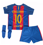 2016-17 Barcelona Home Baby Kit (Ronaldinho 10)