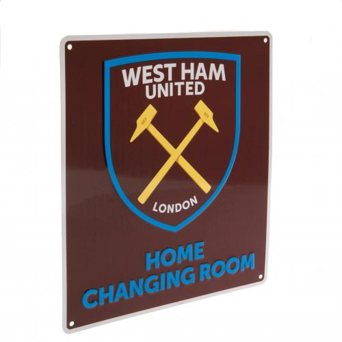 West Ham United F.C. Home Changing Room Sign