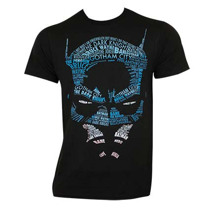 BATMAN Calligram Tee Shirt