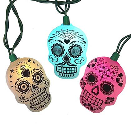 Official Day Of The Dead String Light Set Buy Online On Offer
