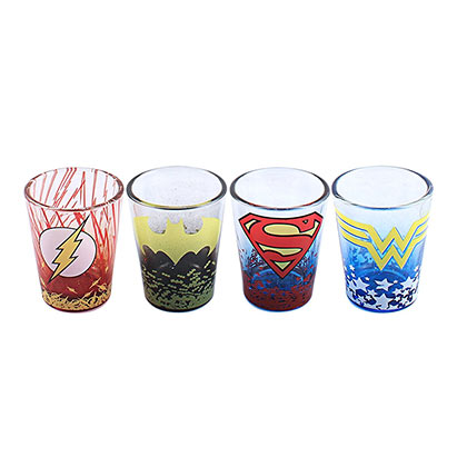 DC Comics 4 Pack Shot Glass