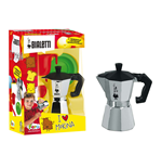 Bialetti Mokina Moka Pot Italian Coffee Maker with Cup, Saucer and Teaspoon