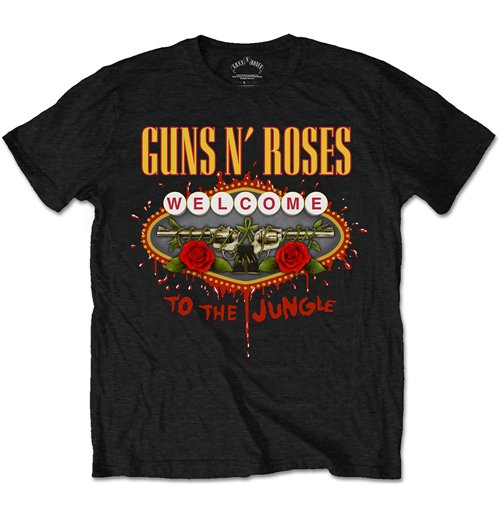 guns n 39 roses men 39 s tee welcome to the jungle for only c at merchandisingplaza ca. Black Bedroom Furniture Sets. Home Design Ideas