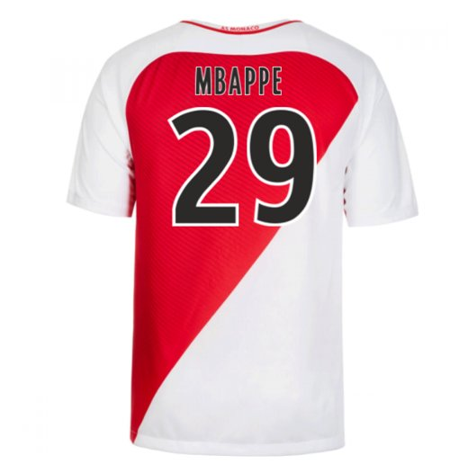 official photos 4bc0b 5f3e3 2016-17 Monaco Home Shirt (Mbappe 29)
