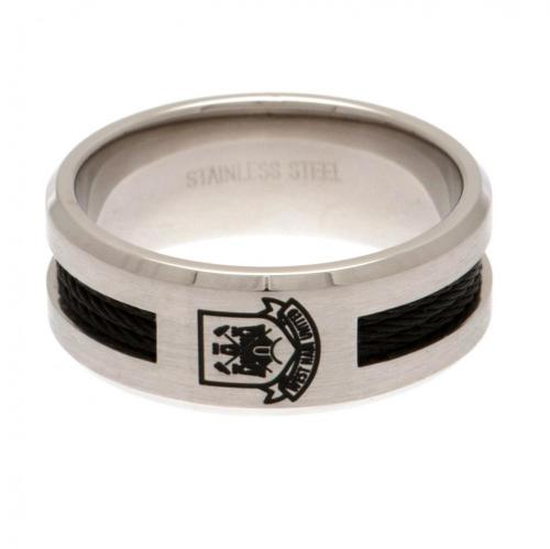 West Ham United F.C. Black Inlay Ring Medium CT