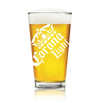 Corona Light Logo Pint Glass