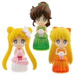 Sailor Moon Figures 6 cm Assortment Clear Colored Sparkle Dress Collection Vol. 2 (25)