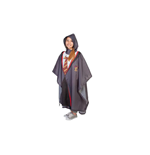 HARRY POTTER Gryffindor Hogwarts Student Uniform Robes Polyester Poncho, Multi-colour