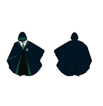 HARRY POTTER Slytherin Hogwarts Student Uniform Robes Polyester Poncho, Multi-colour