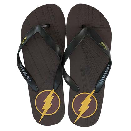 The FLASH Men's Brown Flip Flops
