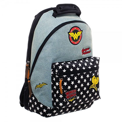 WONDER WOMAN Denim Patch Backpack