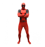 MARVEL COMICS Deadpool Basic Adult Cosplay Costume Morphsuit, Extra Large, Multi-Colour