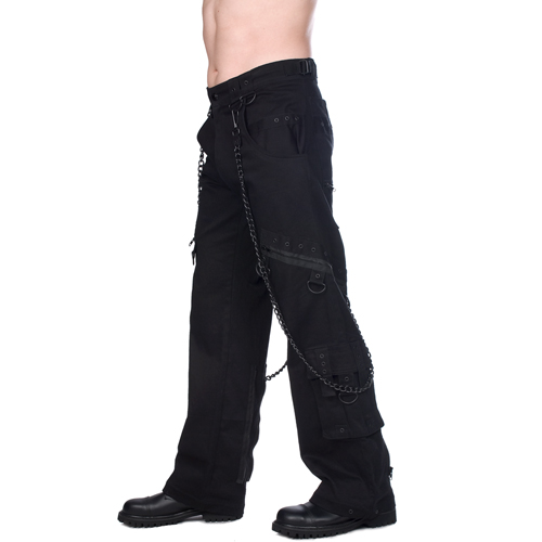 Black Pistol Chain Pants Denim