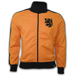 Holland 1970\'s Retro Jacket polyester / cotton (Orange)