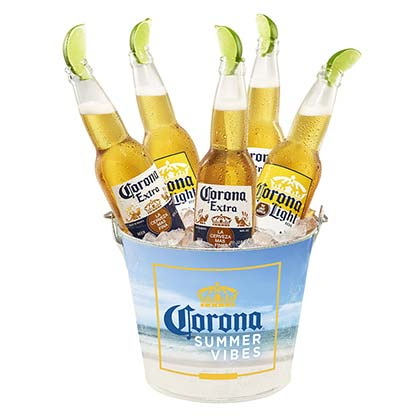 CORONA EXTRA Summer Vibes Beer Bucket With Built In Bottle Opener