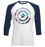 Marvel Comics Men's Raglan Tee: Captain America Shield Block