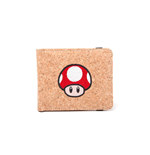 NINTENDO Super Mario Bros. Red Mushroom Bi-fold Cork Wallet, Red