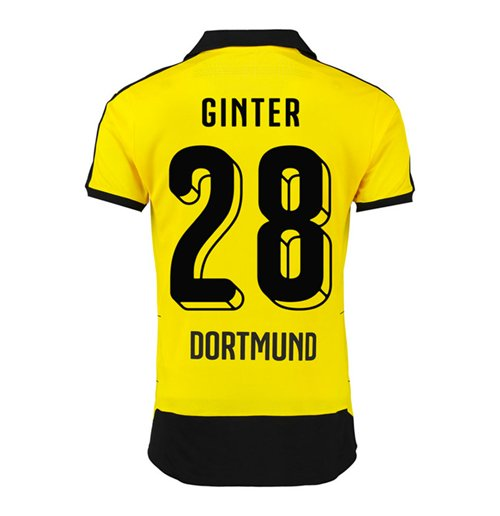 2015-16 Borussia Dortmund Home Shirt (Ginter 28)