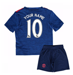 2016-17 Man United Away Mini Kit (Your Name)