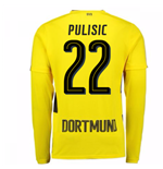 2017-18 Borussia Dortmund Long Sleeve Home Shirt (Pulisic 22)