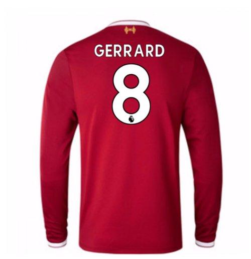 a892b687a Buy Official 2017-18 Liverpool Home Long Sleeve Shirt (Gerrard 8)