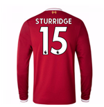 2017-18 Liverpool Home Long Sleeve Shirt (Kids) (Sturridge 15)