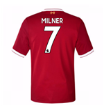 2017-18 Liverpool Home Short Sleeve (Kids) (Milner 7)