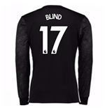 2017-18 Man Utd Away Long Sleeve Shirt (Kids) (Blind 17)