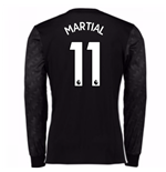 2017-18 Man Utd Away Long Sleeve Shirt (Kids) (Martial 11)